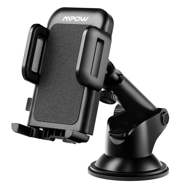 "Promising review: ""I use this product everyday and I love it. I love that you can turn the phone vertical or horizontal and adjust the length as well. I had a vent car mount before this one and found it very inconvenient that I could not have my air or heater going through that vent or my phone would over heat. Very well designed."" — Amazon CustomerGet it from Amazon for $9.99 or Jet for $12.99."