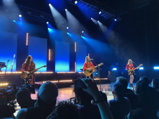 First, Haim will come on stage! They will look flawless. I guarantee that!