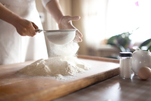 When using gluten-free flour, read the ingredients to make sure it contains a binding agent.