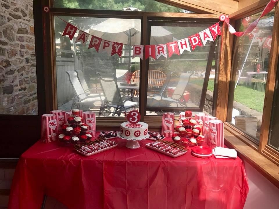 Not Only Did Emily Make Her Daughter A Target Cake BUT She Set Up An Entire Cafe Which Included The Staples Popcorn Pizza Hut