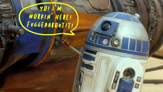 R2D2 was originally meant to be able to speak normally.