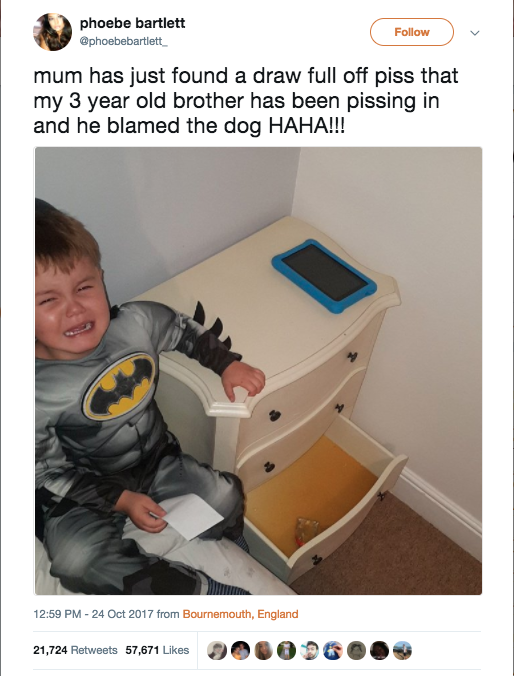 Boys pissing on moms