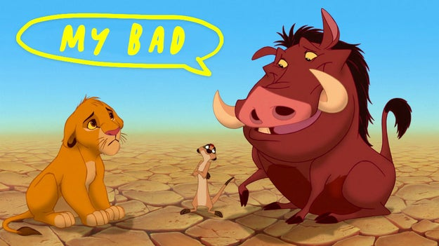 Pumbaa is the first Disney character to ever fart.
