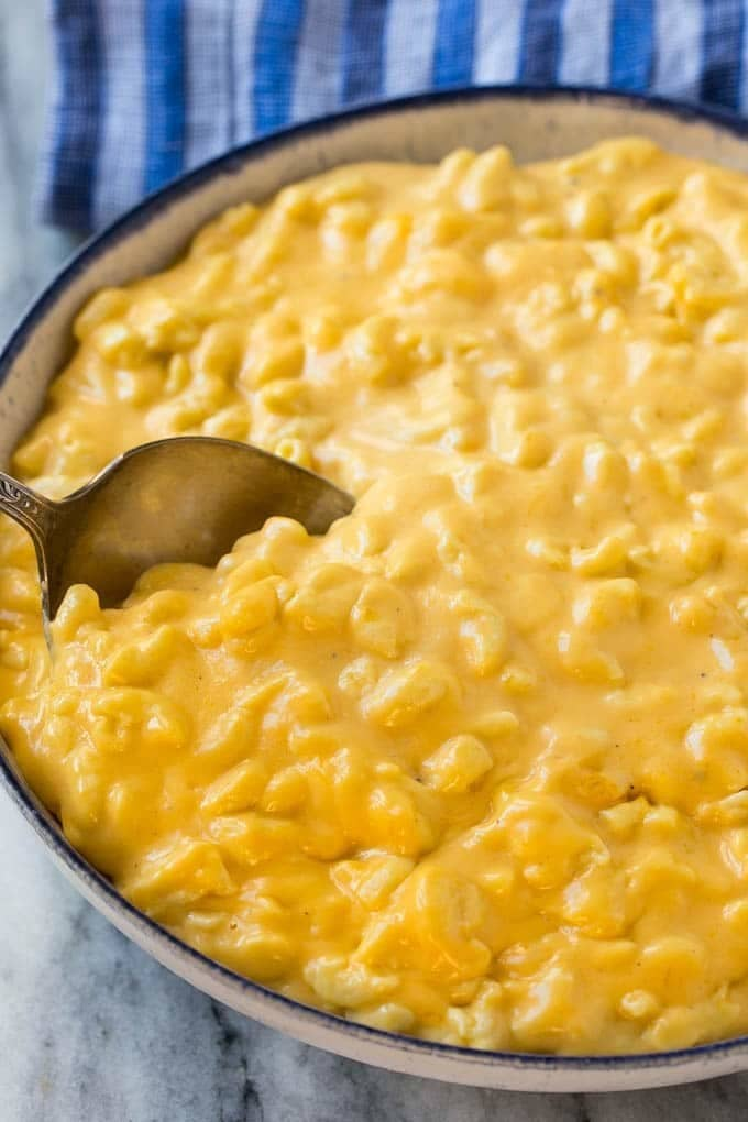 There's nothing that compares to homemade mac and cheese, so make a big batch of this recipe and keep on hand for whenever you're in the mood for some comfort food. Get the recipe.