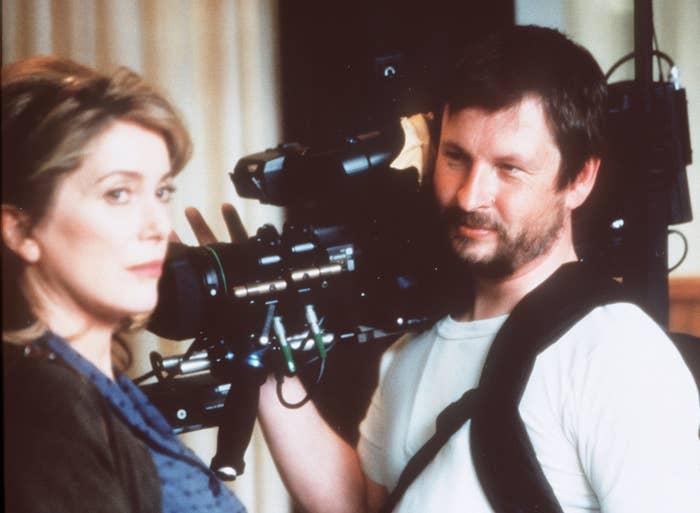 Lars von Trier and Catherine Deneuve on the set of Dancer in the Dark, 2008.