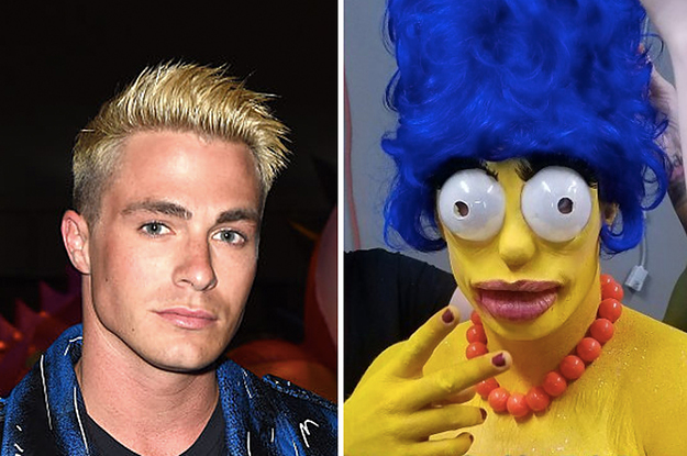 Colton Haynes Went As Marge Simpson For And I M Rocked To The Core