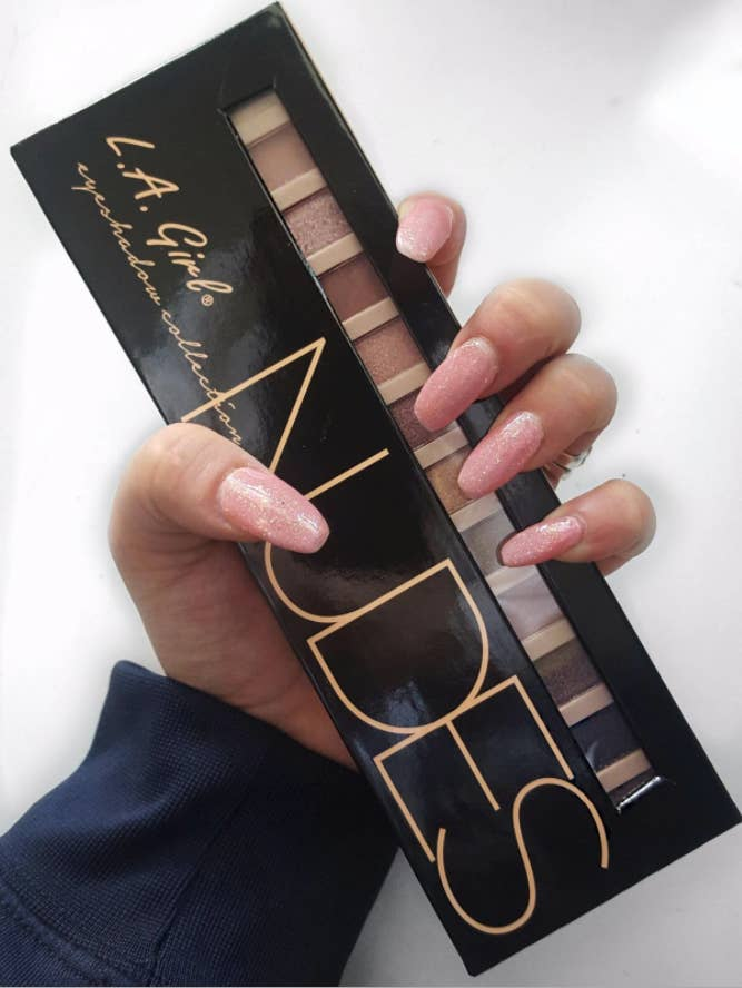 """Promising Review: """"This palette is just perfect, with mild colors for work and day, along with bold colors for a night on the town. I use L.A. Girl eye shadows along with HairgenicsLavish Lash HD mascara, and it really makes my eyes pop. Try this combo. You will love it!"""" –Piper Carlson Get it from Amazon for $6.99 or Jet for $6.99."""