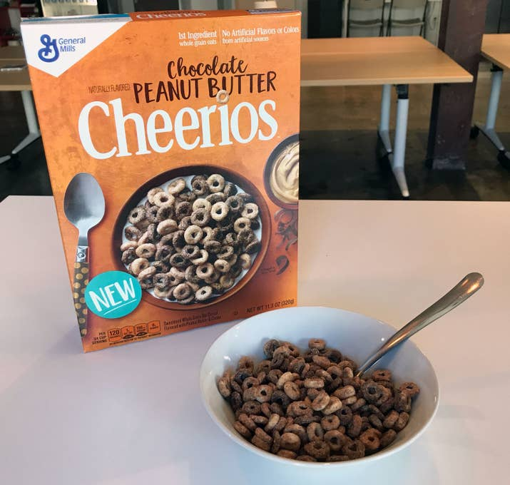Yes. In the most genius move to have happened to food in the last decade, two of the greatest foods in the world (chocolate and peanut butter) have been paired with your childhood fav, Cheerios.