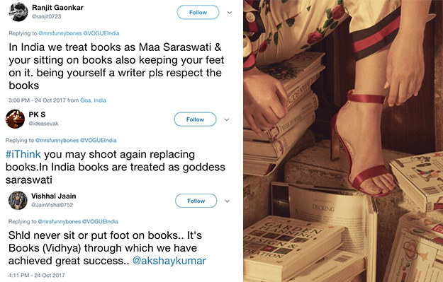 But dear reader, you would be wrong. Because a lot of people were quite miffed by the fact that Khanna seemingly had her foot on a book.
