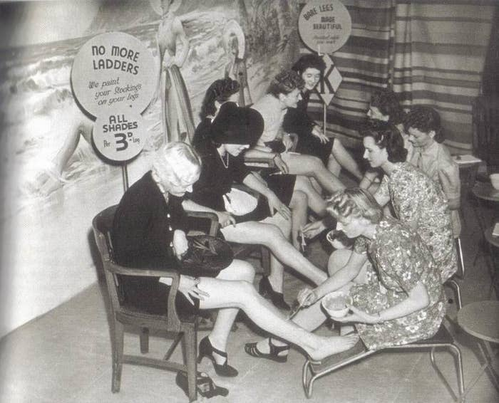 Rationing in WW2 meant that tights weren't easily available. Women used gravy browning to colour their legs instead, which made them taste delicious.