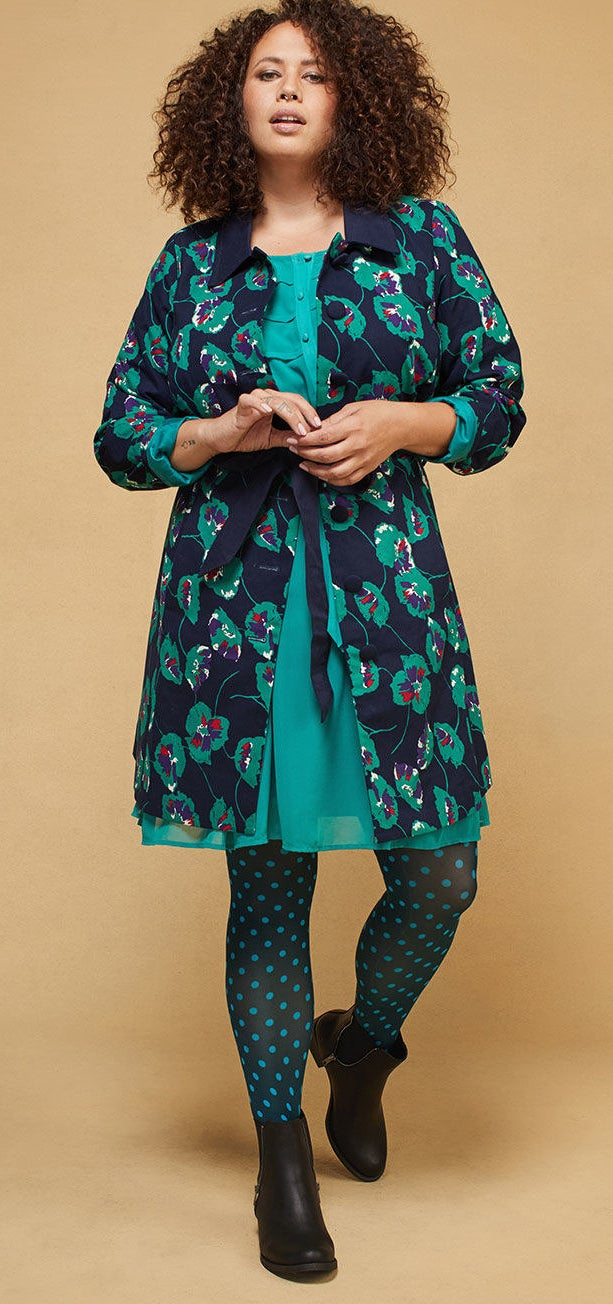 Not even gross weather can ~dampen~ the color of this coat.Price: $99 Sizes: XXS–4X