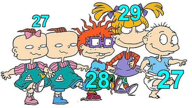 This is how old the Rugrats would be if they aged normally: