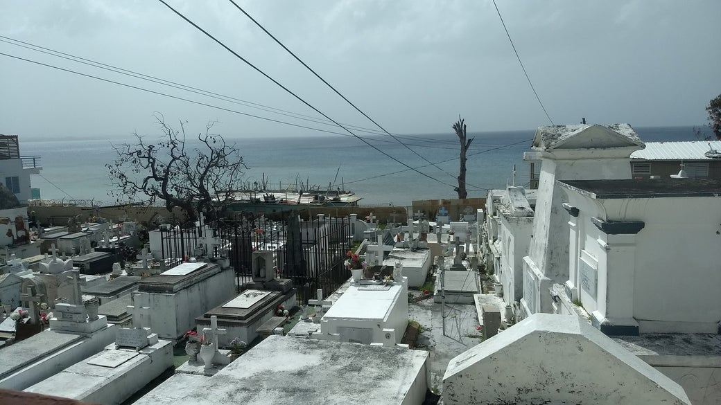 A cemetery in Aguadilla.