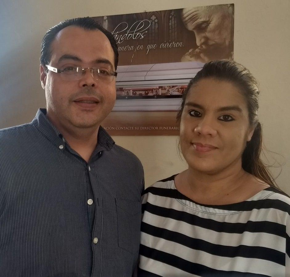 Lynette Matos and Javier Granell of Funeraria Fernandez.