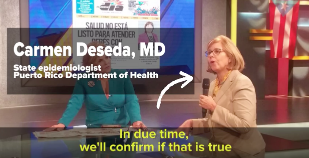 "A spokeswoman for the Puerto Rico Health Department, the chief epidemiologist, said the doctor and nurse accounts were ""rumor"" — and that the truth will come out eventually."