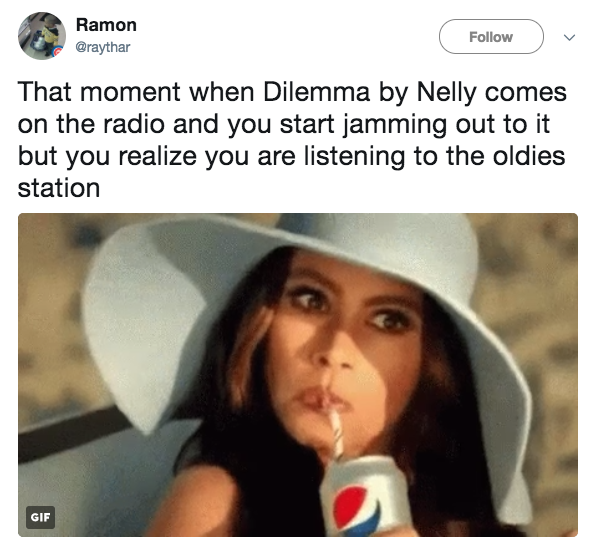 Nelly is now officially an oldies act: