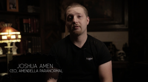 And if the house wasn't already creepy enough on it's own, we had Joshua Amen, a ghost hunter and founder of Amendella Paranormal, follow us around trying to get a sense of any phenomena.