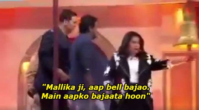 She was earlier a mentor on the show with comedians Zakir Khan and Hussain Dalal. This was before the channel recently let go of the three mentors and replaced them with Sajid Khan and Shreyas Talpade.