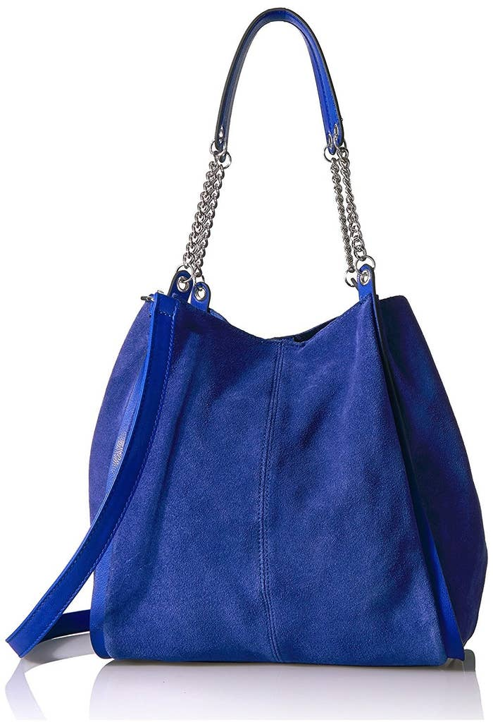 250278431 5. This suede tote for when you need a little pop of color and total  functionality.