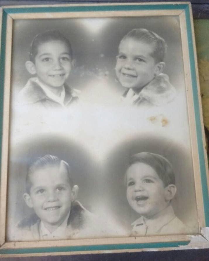 Ricardo (à esq., no alto), Marcelo, Flavio e Julio, em montagem de fotos feitas em diferentes anos.