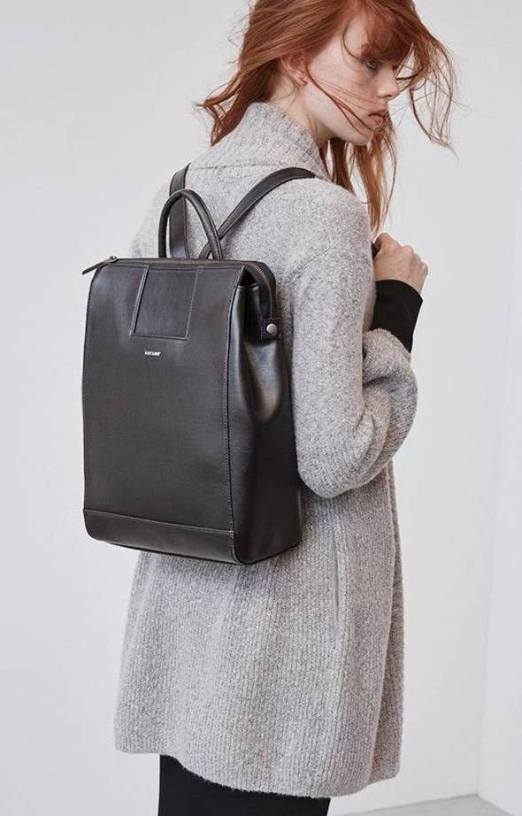 7811d869e This vegan leather backpack you'll have to convince people isn't real  leather.