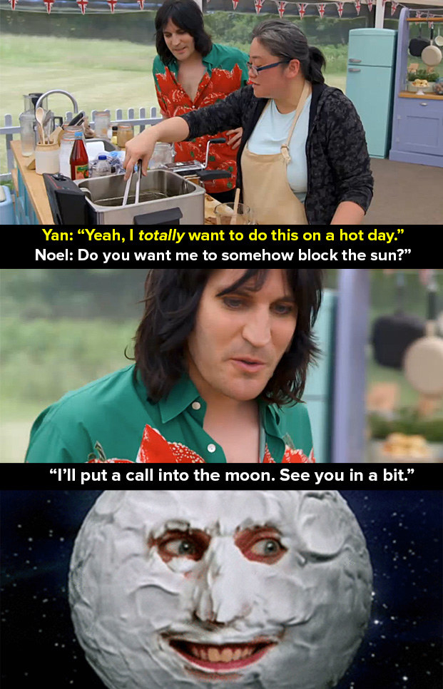 When this amazing (and probably coincidental) reference to The Mighty Boosh occurred on the hottest day of the year.
