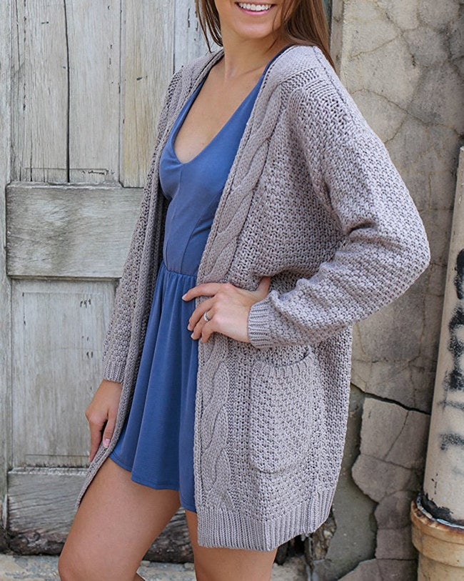 """Promising Review: """"This sweater is so cute and feels much more expensive than it is. The material is thick and doesn't shed on your clothes. I will be buying it in another color!"""" —EllyLPrice: $25.45+ Sizes: S-2XL Colors: nine"""