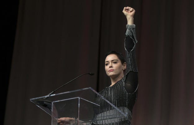 "She railed against the prevalence of male directors in Hollywood, but said sexual harassment was common to many industries; ""It's time to clean house,"" she said."