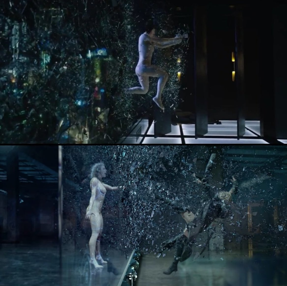 Above you see a image from Ghost in the Shell (top) and Swift's new video (bottom). BuzzFeed News has reached out to Swift's publicists, as well as a representative for Kahn, to learn more about the inspiration behind the video.