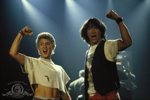 Alex Winter in Bill and Ted's Excellent Adventure: