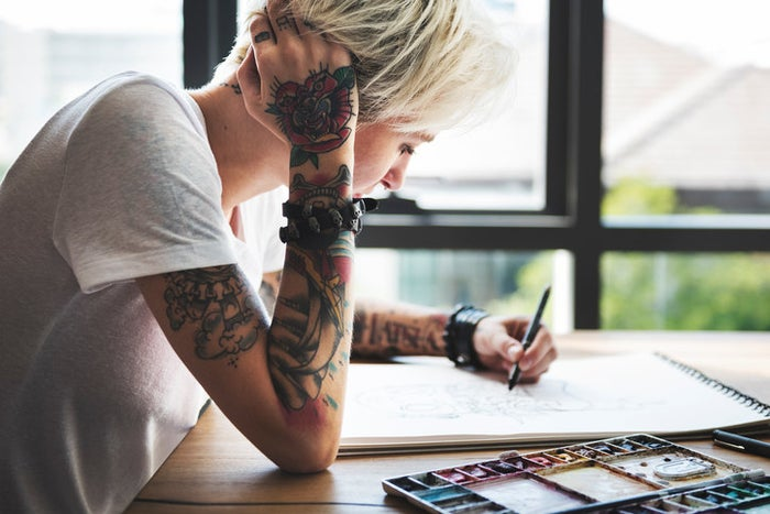 A tattoo will be harder to remove based on things like: if it's older, if it's bigger in size, if it was done by hand (as opposed to professionally with a tattoo gun, where the ink is applied just below the skin), if it's in a place with poor blood circulation (ie. ankles, extremities, etc.), or if it includes multiple colors, Roenigk tells BuzzFeed Health. In these cases, a laser might not be able to do the job.
