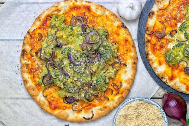Broccoli Cheese Pizza