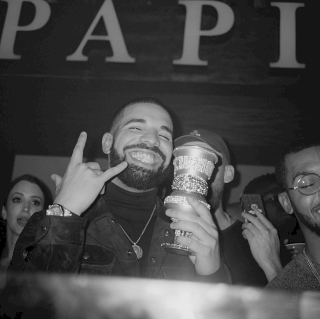 Drake was one happy guy.