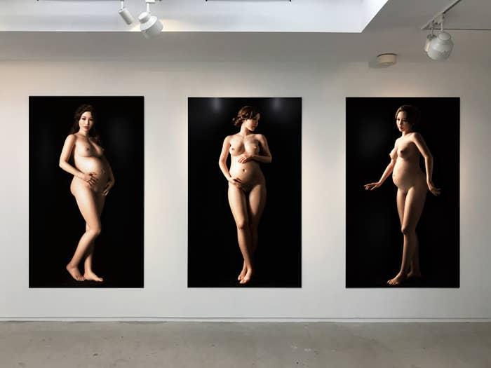 黄金町バザールで展示されている「The Three Graces」