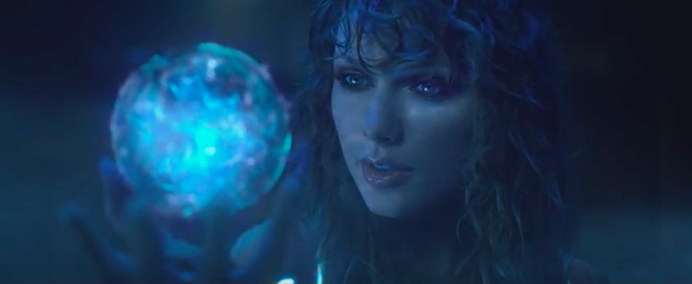 Then there's the shot of naked bodysuit Taylor holding a crystal ball that we got in the preview.