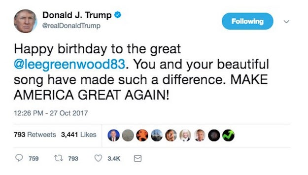 So, on Friday, the president attempted to show his appreciation to the singer by wishing him a happy birthday.