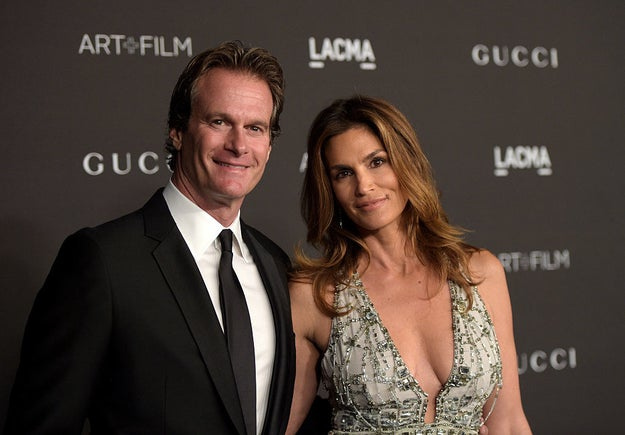 And this other beautiful couple is Rande Gerber and Cindy Crawford.