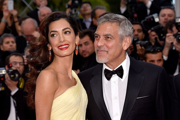 OK, everyone. This beautiful couple right here is Amal and George Clooney.