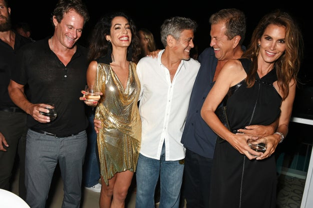 In case you don't know, Rande and George are best friends. They even started a tequila company together, which they recently sold for $1 billion.