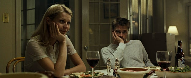 Gwyneth is famous for loads of films (and GOOP, of course), but one of her most iconic roles was in Se7en with Brad Pitt. She and Brad played husband and wife.