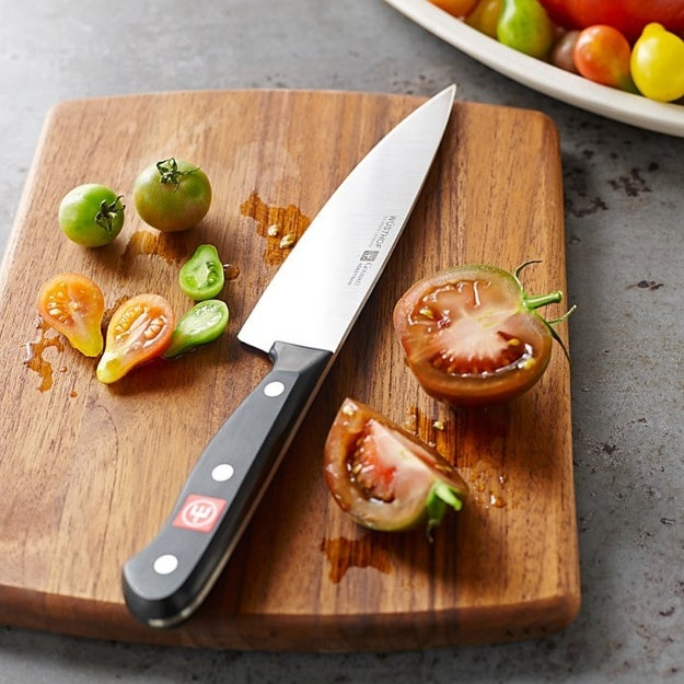 Invest in a sharp chef's knife for easily chopping all of your veggies and meats.