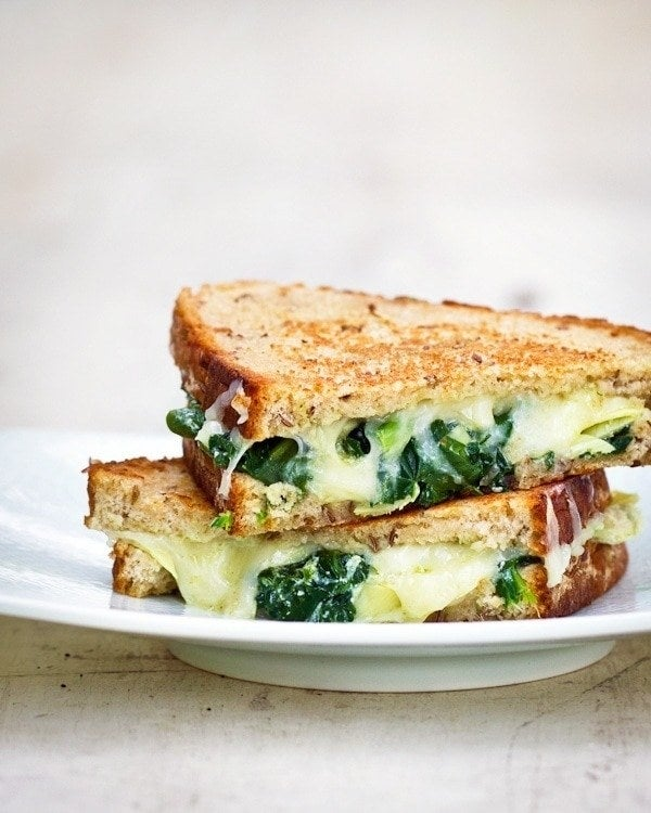 Your typical grilled cheese gets bulked up a bit with the help of a delicious spinach and artichoke filling. Get the recipe.