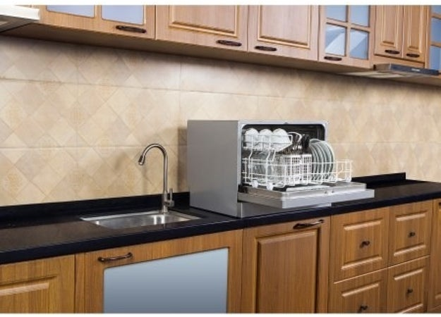 Splurge on a mini dishwasher so you won't ever have to touch any dirty dishes for a prolonged period of time ever again.