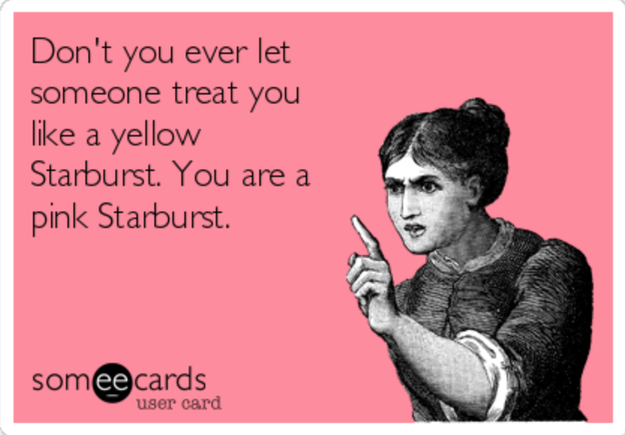 And don't even try to say yellow is the worst flavor – this meme is whack.