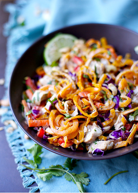 Butternut Squash Pad Thai with Chicken
