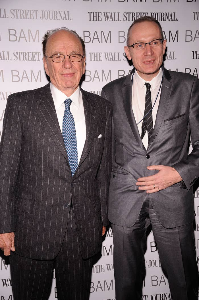 Rupert Murdoch (left) and Robert Thomson attend the BAM Belle Reve Gala at the Brooklyn Academy of Music, New York City, on Dec. 3, 2009.