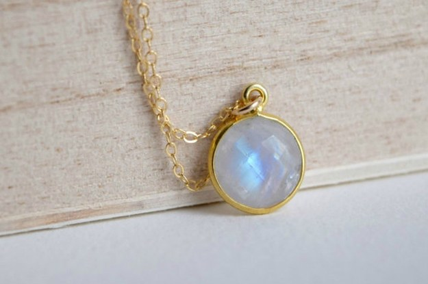 23 delicate moonstone necklaces youll never take off mozeypictures Choice Image