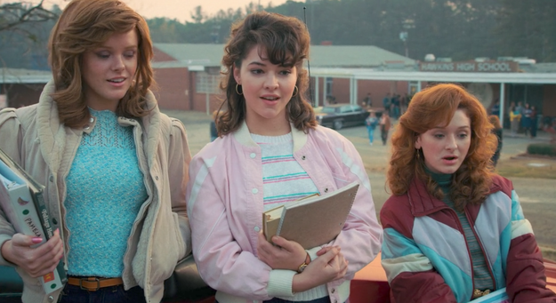 Over the weekend, Season 2 of Stranger Things transported us back to the '80s in Hawkins, Indiana, where yes, okay, a lot of spooky things keep happening — but at least the fall fashion is always on point.