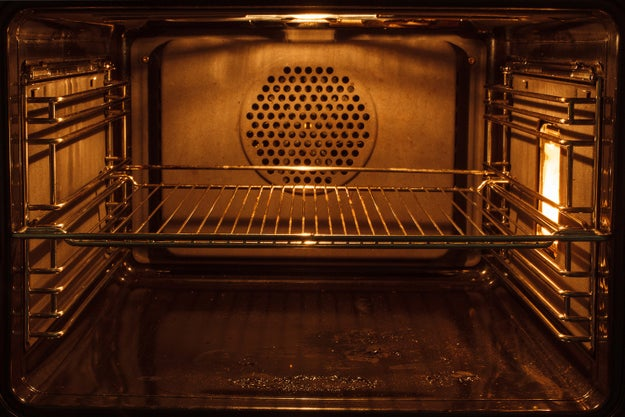 To cool down an overly hot oven, simply leave the door open (but give it plenty of time to heat back up).