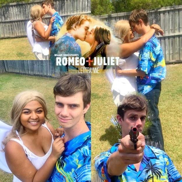 """""""Baz Luhrmann's Romeo and Juliet."""""""